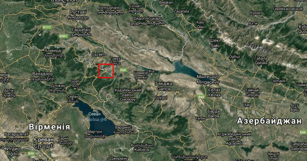 Місце на мапі військових сутичок
