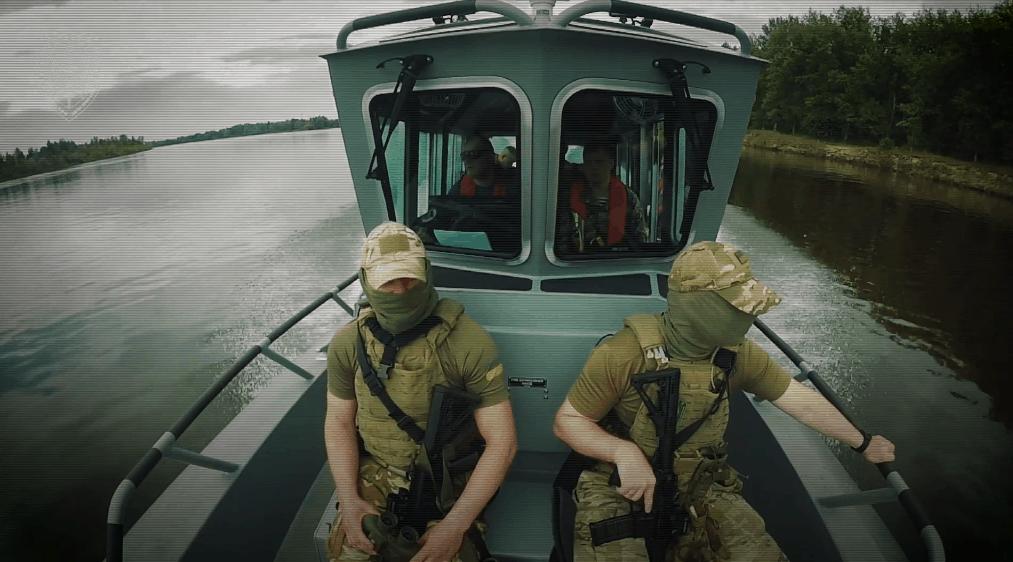 10-й окремий загін оперативного реагування «ДОЗОР» на катері «Safe Boat 27». Кадр з відео