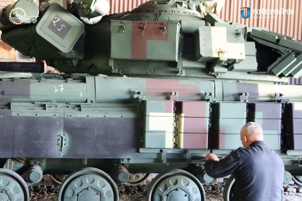 Відновлені та модернізовані Т-64 від ЛБТЗ. Фото: Укроборонпром