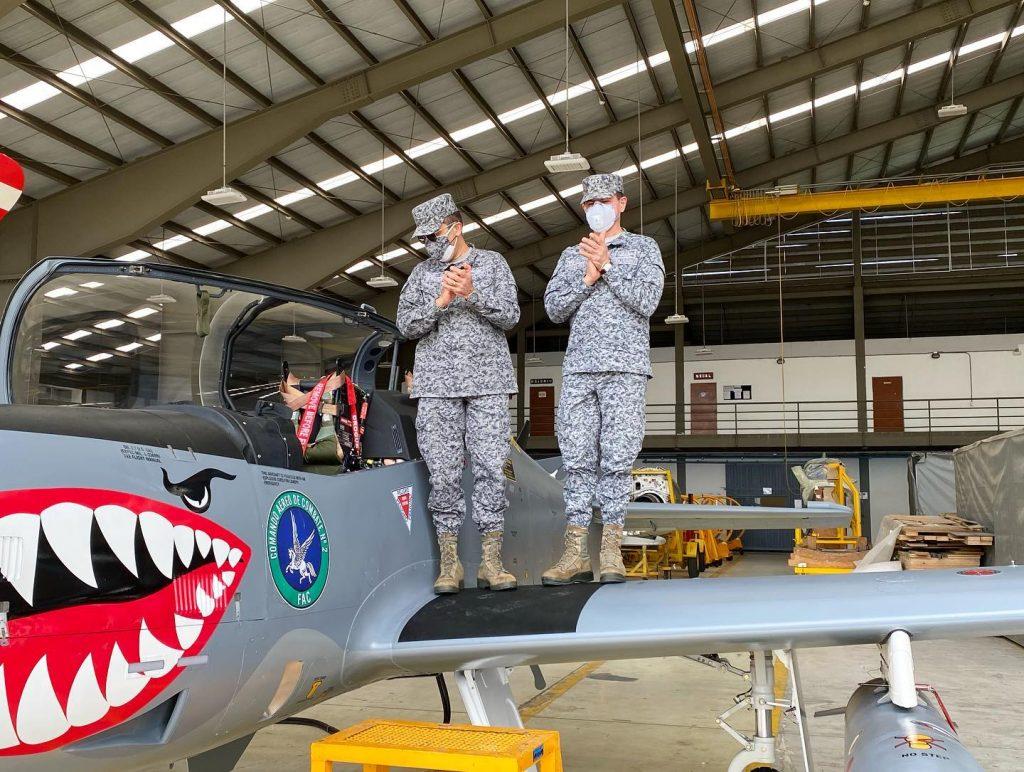 Літак АТ-27М «Tucano» ВПС Колумбії. 2020 рік. Фото: ЗМІ Колумбії