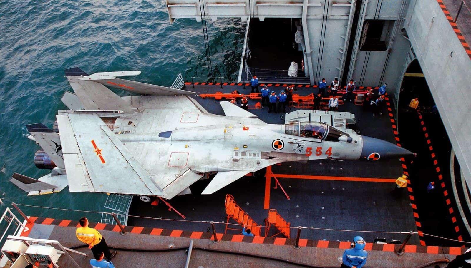 Палубний літак Shenyang J-15 ВПС Китаю