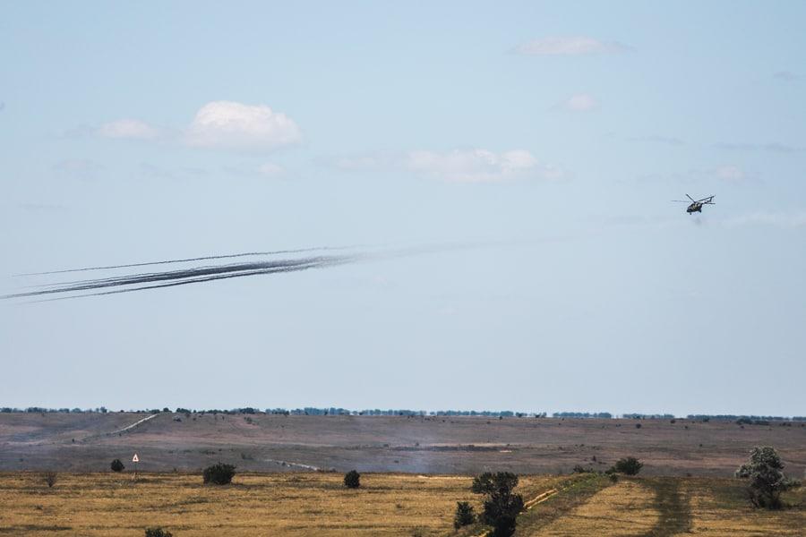Авіація на спільних командно-штабних навчаннях «Гвардія–2020». Фото: Нацгвардія