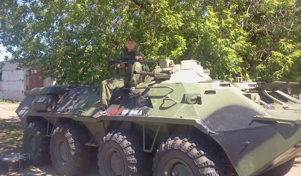 БТР-80 російського виробництва підрозділу «СССР Брянка»