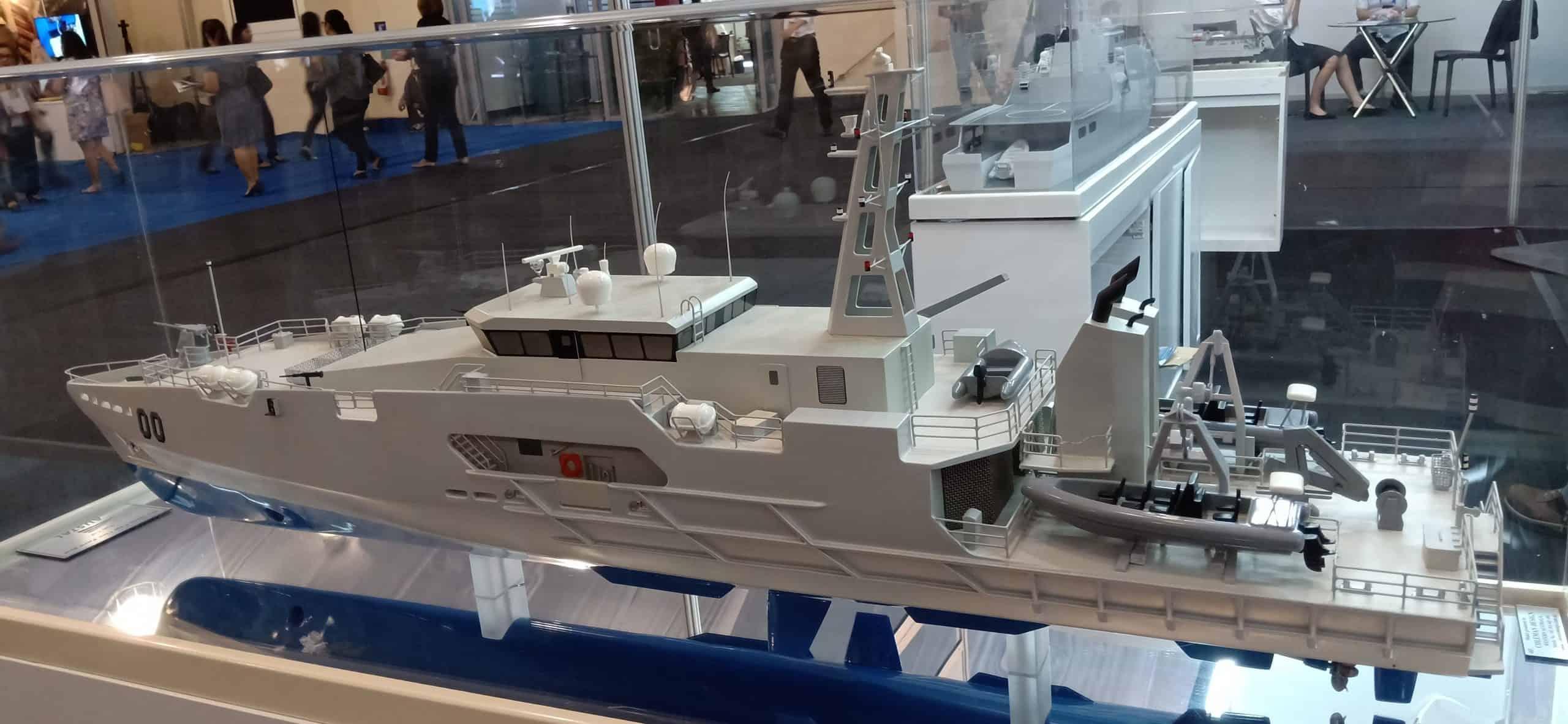 Макет патрульного корабля класу «Cape». Фото з відкритих джерел