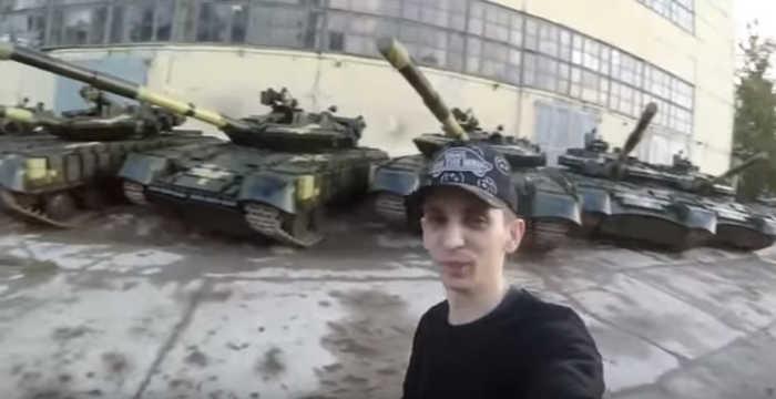 Дігери на території Харківського бронетанкового заводу