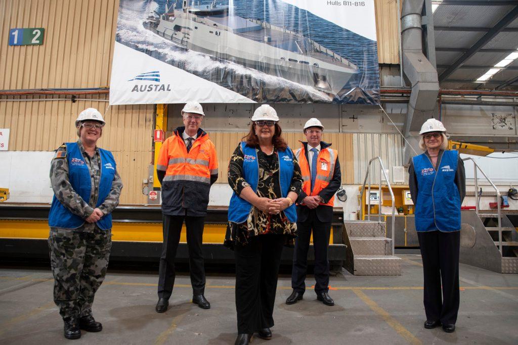 Церемонія різання сталі для корабля класу «Cape». Липень 2020. Фото: Austral