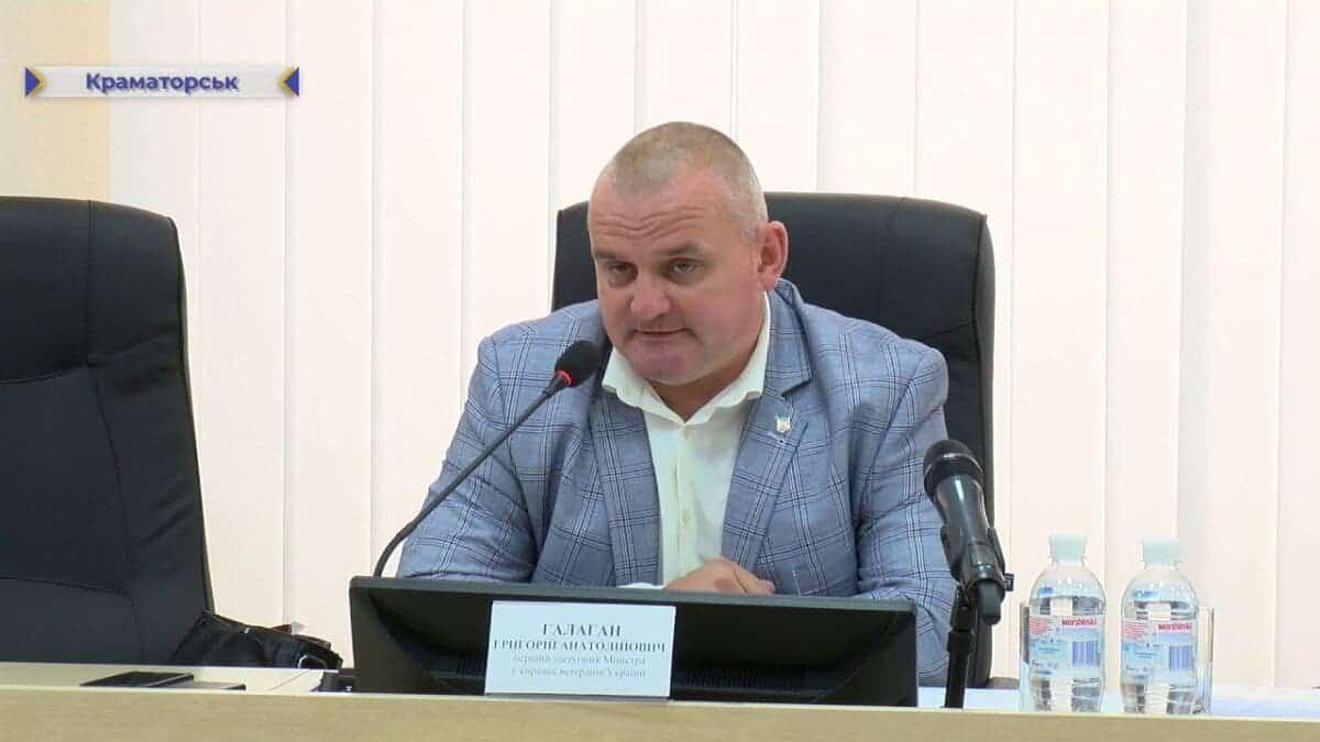 Григорій Галаган під час роботи у Міністерстві ветеранів
