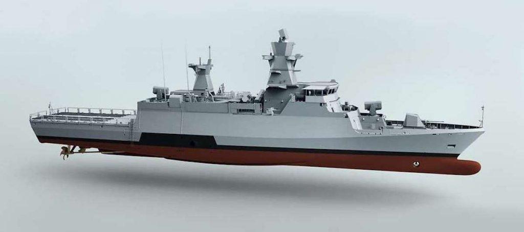 Ілюстрація корвету проєкту K130 Batch 2 класу «Braunschweig».