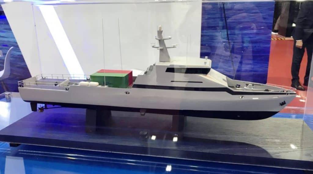 Модель патрульного корабля OPV-45