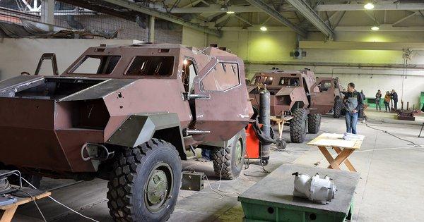 Процес виробництва «Дозор-Б» на ДП «Львівський бронетанковий завод»