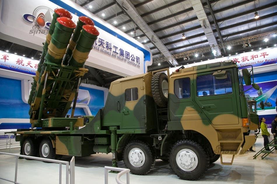 Пускова установка китайського зенітного ракетного комплексу FK-3