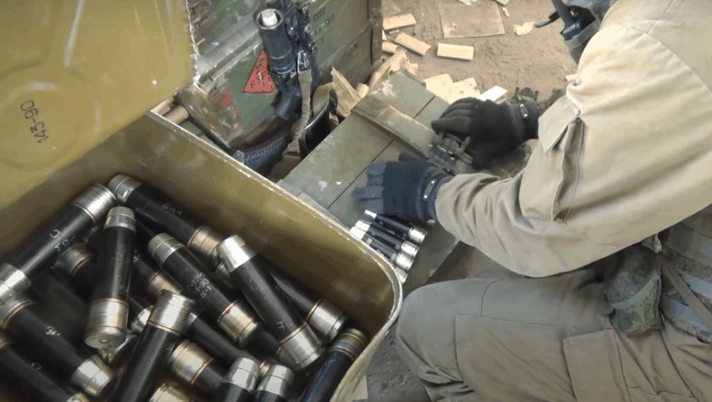 Гранатометні постріли ВОГ-17М калібру 30 мм з Росії на Донбасі для АГС-17. 2015 рік.