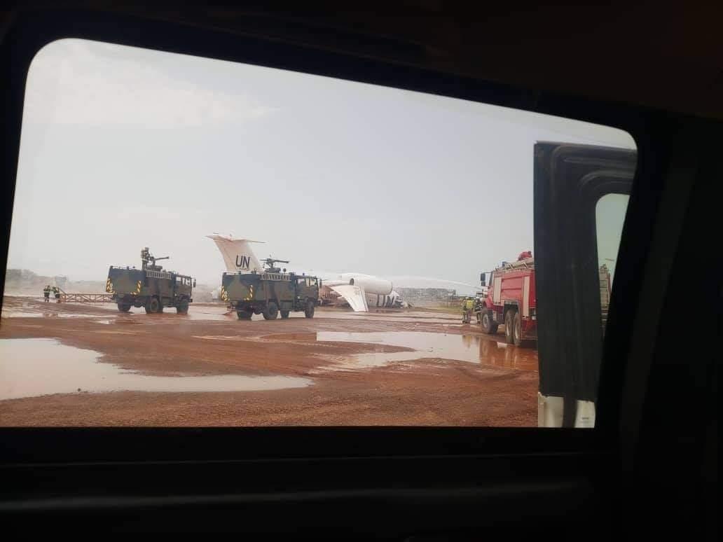 Транспортний літак Ан-72 ООН під час аварії в Малі