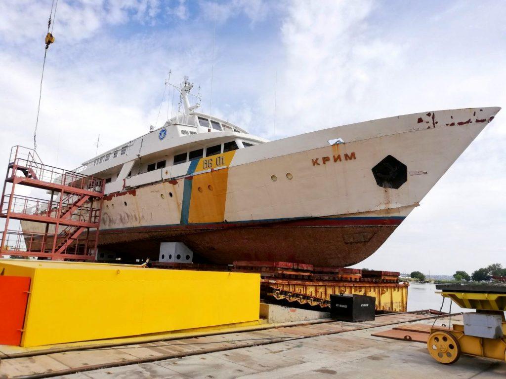 Корабель «Крим» (BG-01). Серпень 2020. Фото: «Миколаїв – місто корабелів»