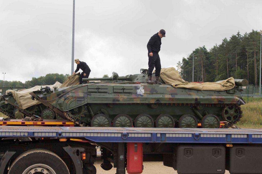 ЗСУ прибули до Німеччини. БМП-1. Фото: Генштаб ЗСУ