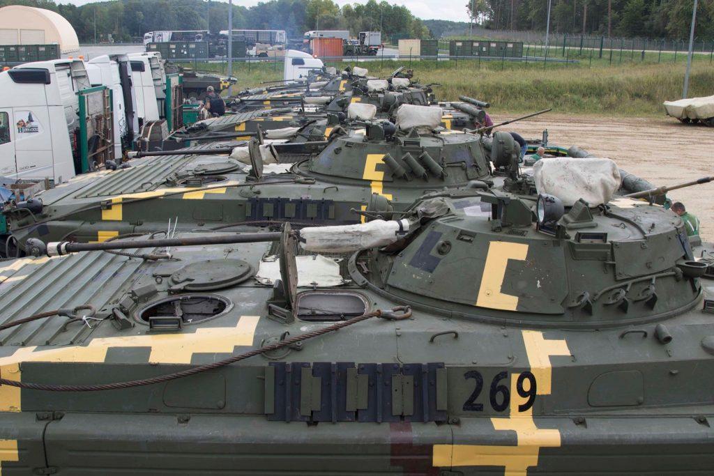ЗСУ прибули до Німеччини. БМП-2. Фото: Генштаб ЗСУ