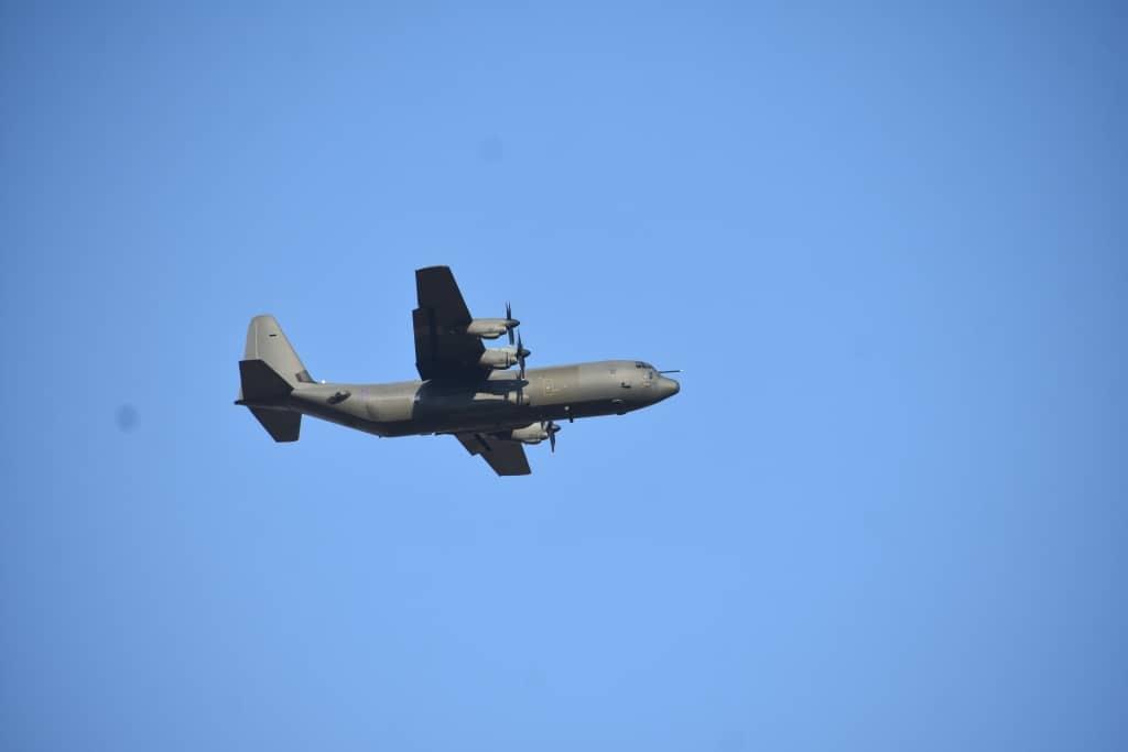 Політ C-130 в небі над Миколаївщиною Вересень 2020. Фото: Генштаб ЗСУ