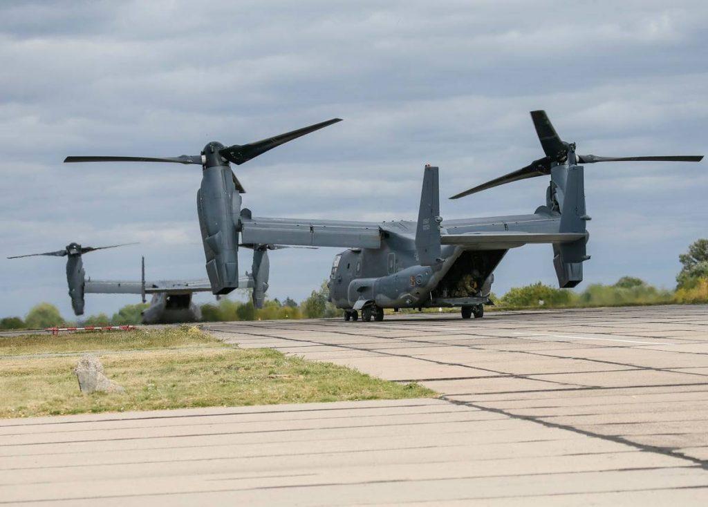 CV-22 Osprey ССО США на навчаннях в Україні. Вересень 2020. Фото: sprotyv.info