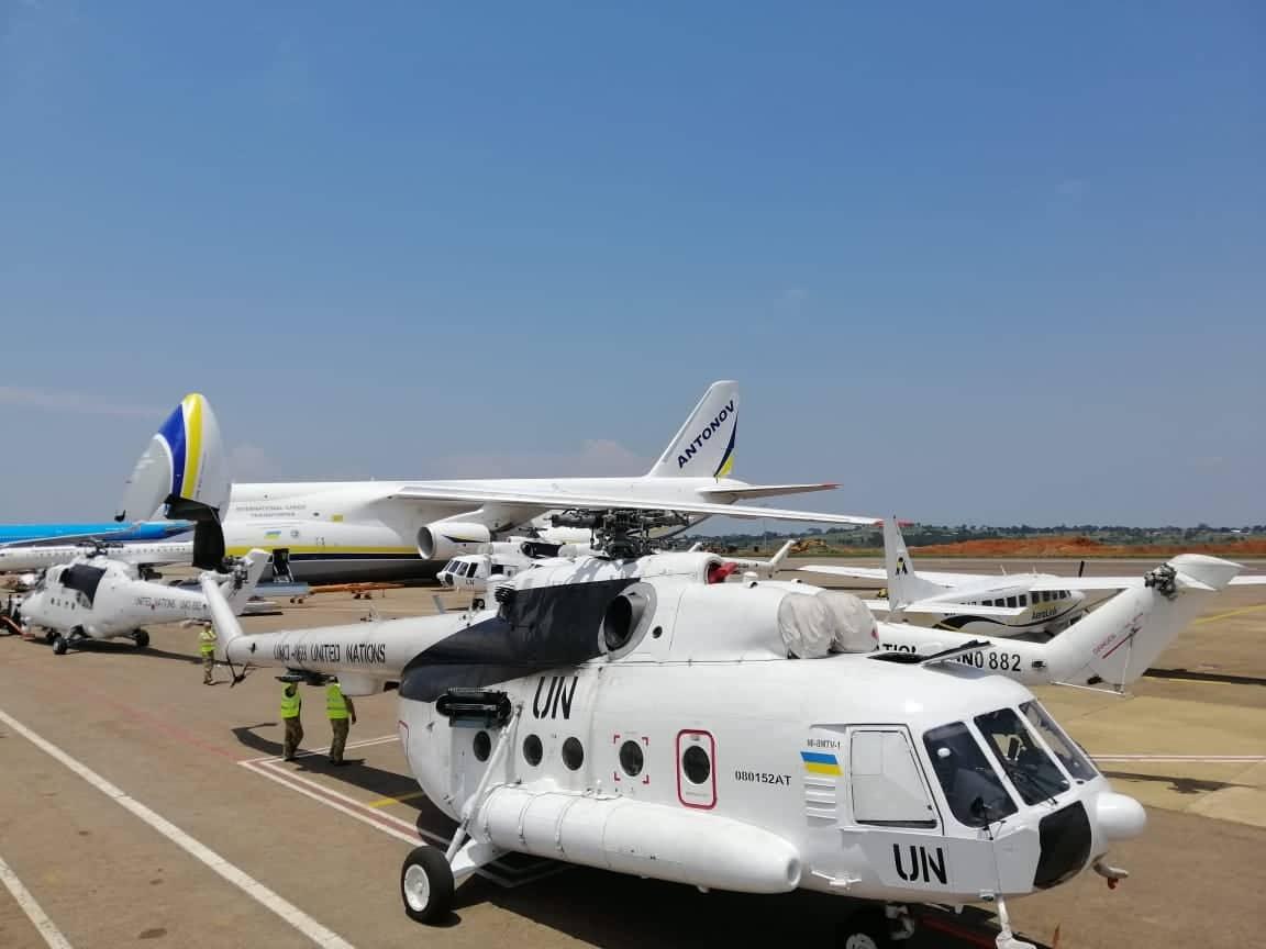 Вертольоти Мі-8 для контингенту ЗСУ у ДР Конго. Вересень 2020. Фото: ЗСУ