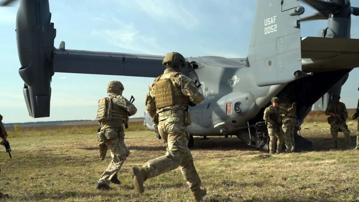 Навчання українських та американських ССО на Хмельниччині з V-22 Osprey. Вересень 2020. Фото: АрміяInform