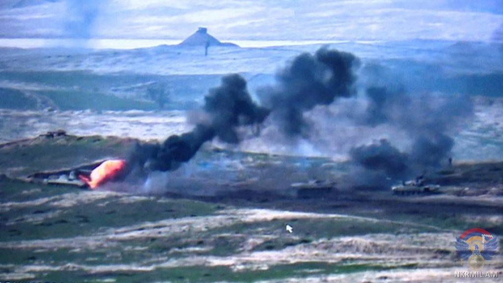 Нібито знищена техніка сил Азербайджану. 27.09.2020