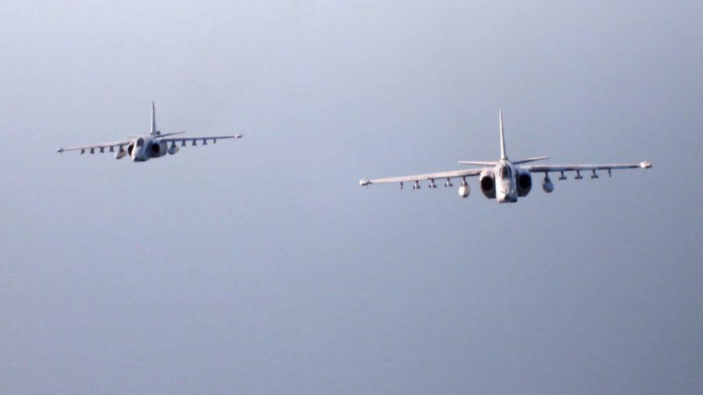 Су-25 під чат підготовки протиповітряної оборони. Вересень 2020. Фото: АрміяInform