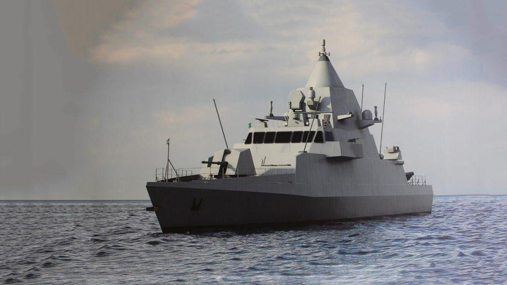 Проєктне зображення патрульного корабля типу Musherib