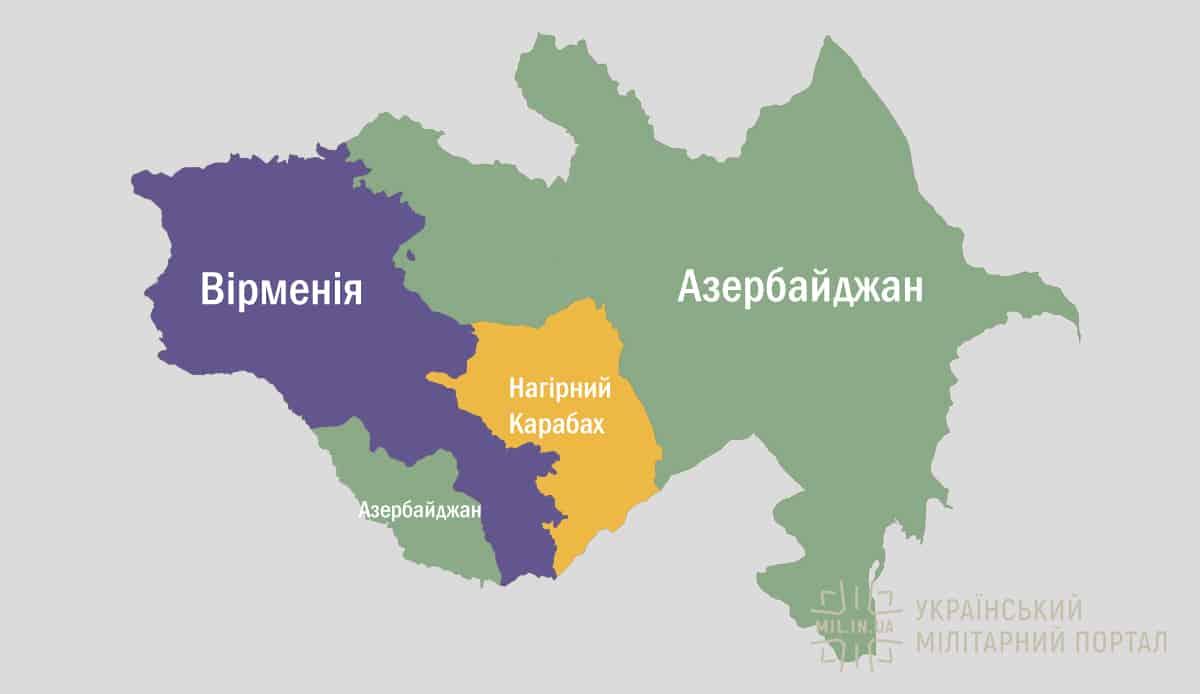 Нагірний Карабах на мапі
