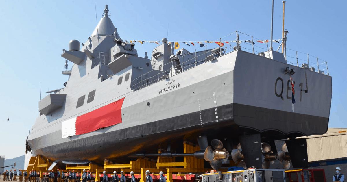 Патрульний корабель «Musherib» (Q61) для Катару. Вересень 2020. Фото: Fincantieri