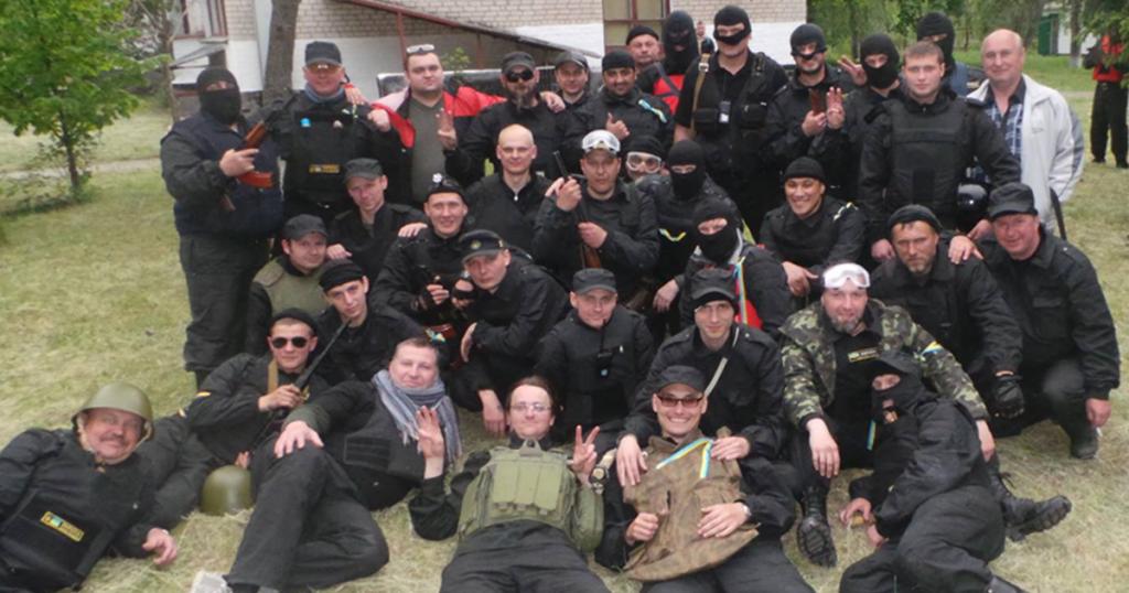 Первый состав батальона «Донбас» до боя в Карловке