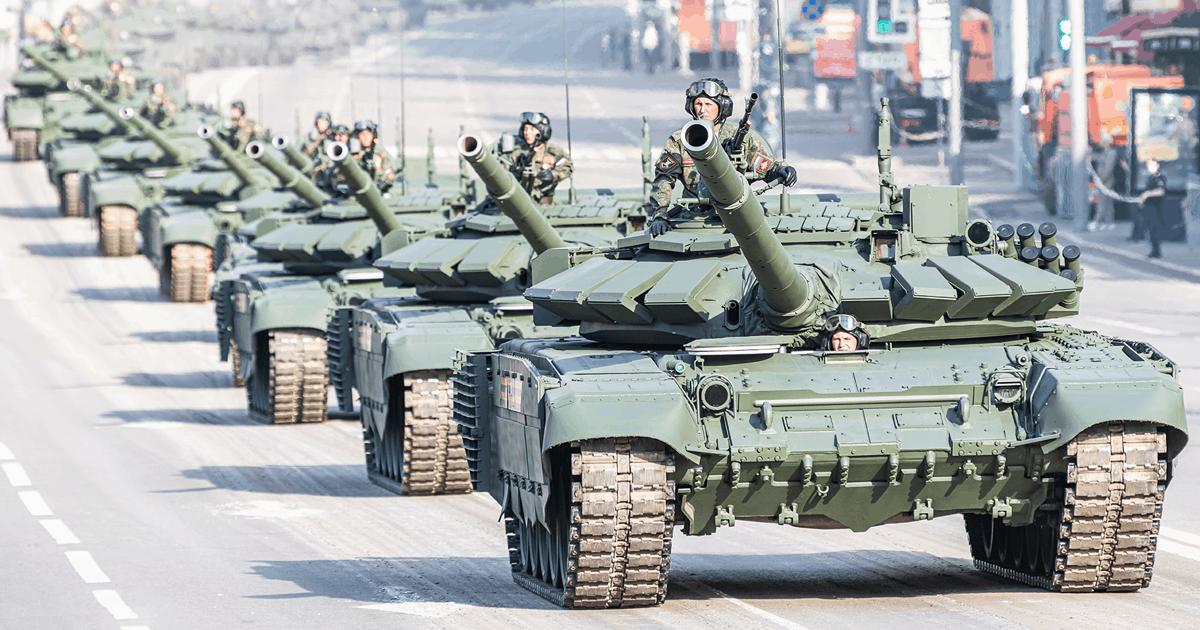 Танки Т-72Б3М ЗС РФ. Червень 2020. Фото: ЗМІ РФ