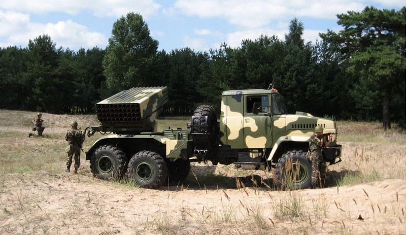 РСЗВ «Бастіон-1» на шасі КрАЗ
