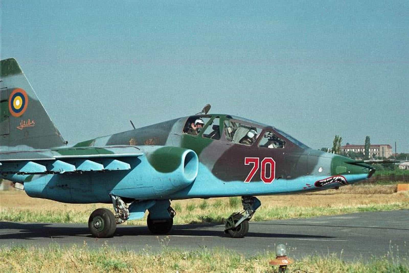 Штурмовик Су-25УБ ВПС Вірменії