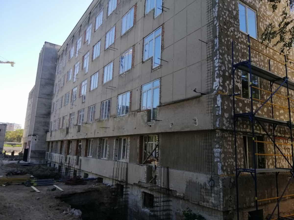 Стан будівництва багатоквартирного будинку в Одесі у вересні 2020 року