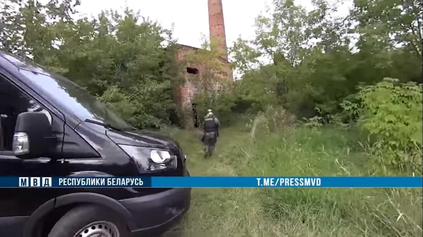 Стопкадр з відео затримання «Партизан Могильова»
