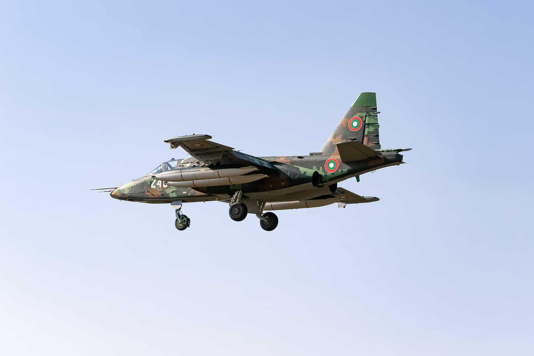 Су-25 повітряних сил Болгарії з бортовим номером 246 1