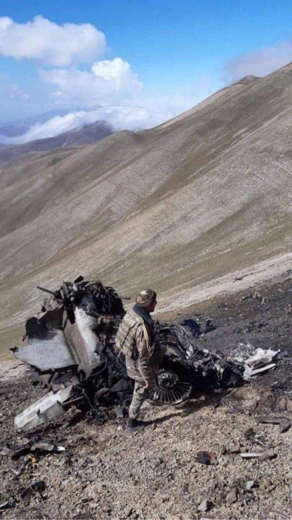 Уламки штурмовика Су-25 Вірменії