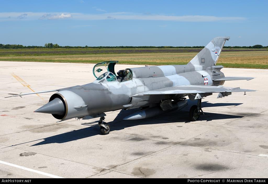 Винищувач МіГ-21 ВПС Сербії