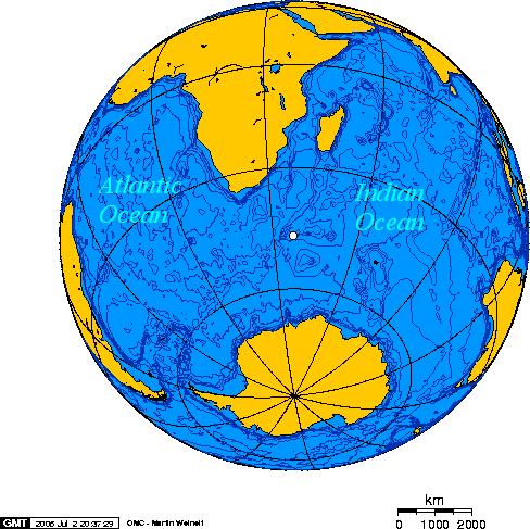 Район фіксування подвійного спалаху 22 вересня 1979 року