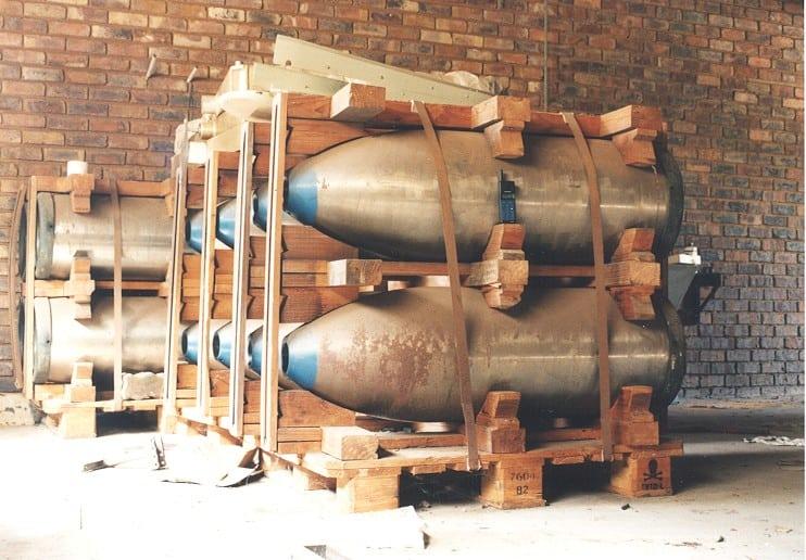 Зовнішні оболонки боєприпасів у покинутому об'єкті Адвена.