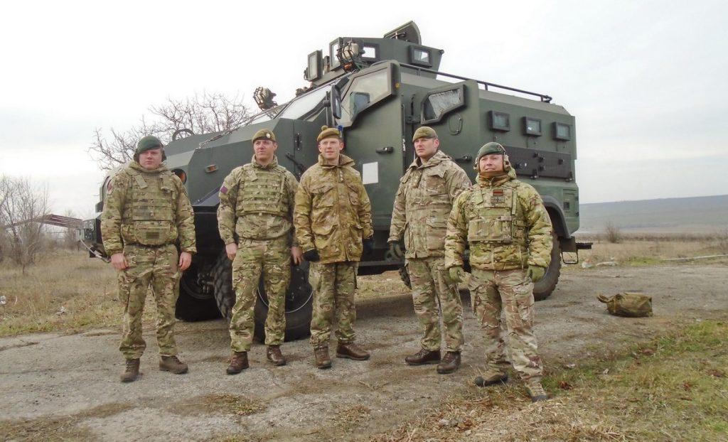 Британські інструктори в України для тренувань ЗСУ. Січень 2020. Фото: АрміяInform