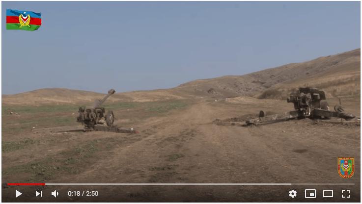Трофеїзовані Азербайджаном артилерійські установки Д-20 та Д30
