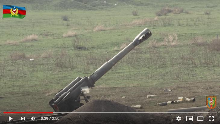 Трофеїзована Азербайджаном артилерійська установка Д-20