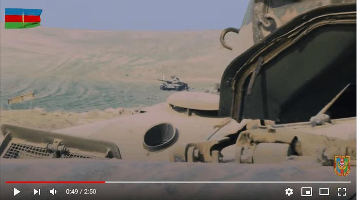 Трофеїзований Азербайджаном танк Т-72