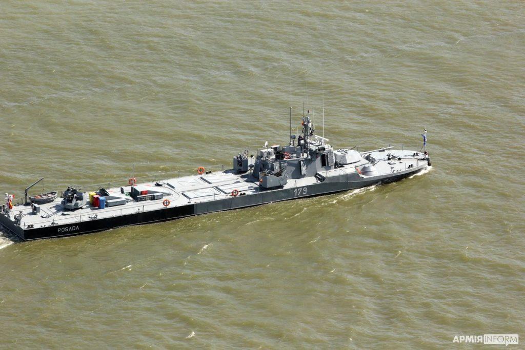 Річковий артилерійський катер Posada (F-179). Навчання Riverine-2020. Вересень 2020. Фото: АрміяInform