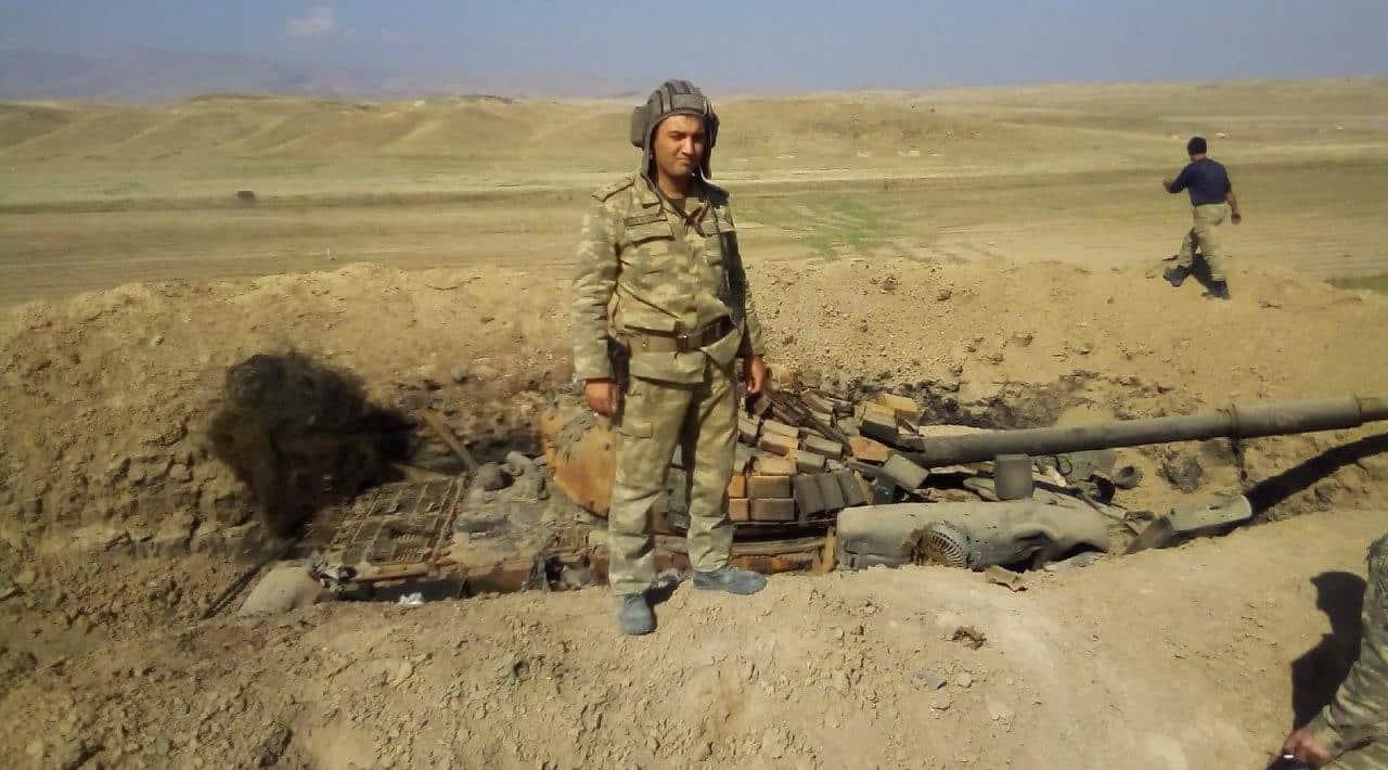 Знищенний Т-72 сил Вірменії