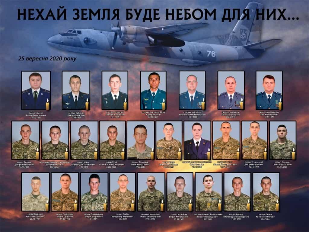 Список загиблих в авіакатастрофі Ан-26Ш