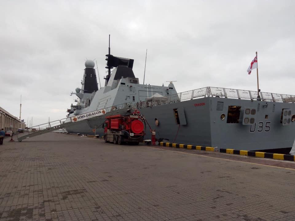 HMS «Dragon» D35. Жовтень 2020. Фото: ЗСУ
