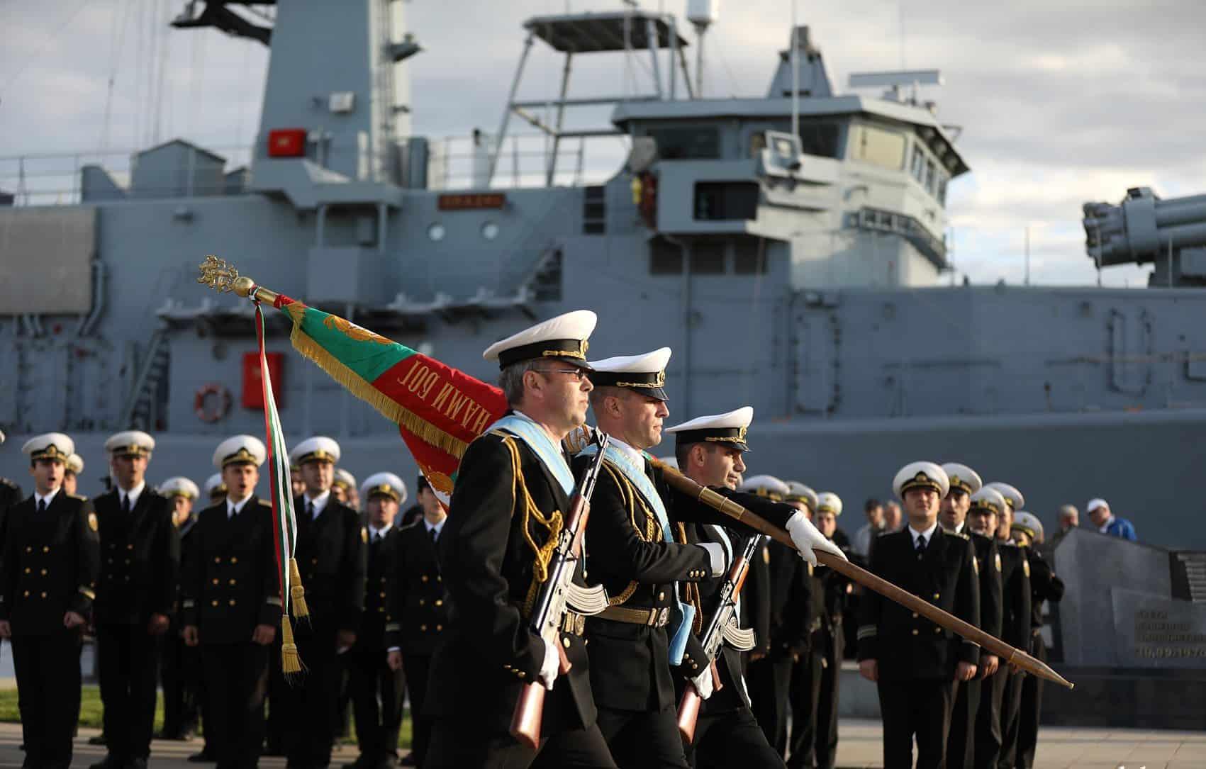 Церемонія ведення мінного тральщика до складу флоту. Жовтень 2020. Фото: МО Болгарії