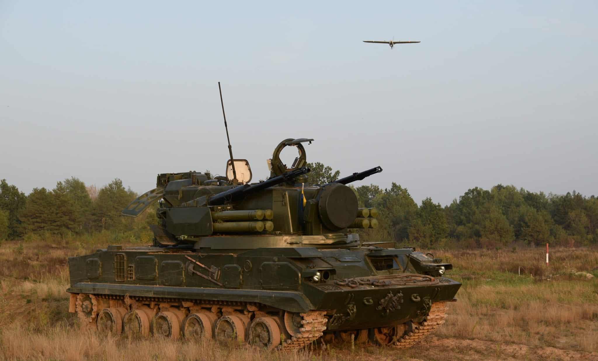 2С6 «Тунгуска». Випробування БПАК «Лелека-100». Жовтень 2020. Фото: ДНДІ ВС ОВТ